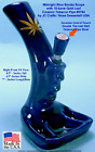 Smoke Scope Gold Leaf Water Hookah Bong Tobacco Pipe BLUE Ceramic Glass 0764 BLU