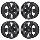 18 HONDA PILOT RIDGELINE GLOSS BLACK WHEELS RIMS FACTORY OEM SET 64038 EXCHANGE