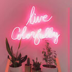 Live Colorfully Neon Sign Acrylic Light Glass Bedroom Artwork B Gift With Dimmer