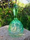 L.E. Smith Moon and Stars, Green Opalescent Glass Bell