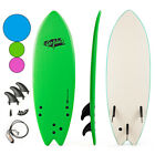 55 Surf Board Surfing Beach Ocean Foamie Board w Wrist Rope  3 Fins Green