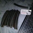27x piece HO Electric Train Track Curved Vintage Pieces, OKAY/Fair Condition