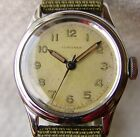 34 mm MEN'S military LONGINES PILOT WWII period WRISTWATCH GOOD CONDITION 1945