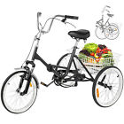 Folding Adult Tricycle 20 Portable Bike Bicycle 3 wheel Tricycle V brake HOT