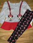Disney NEW Minnie Mouse Long Sleeve Shirt Leggings Size 18 Months Girls