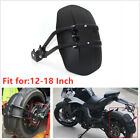 Black PVC Motorcycle Rear Wheel Cover Fender Splash Guard Mudguard Bracket