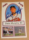 Dale Murphy Signed Autographed Atlanta Braves #3 Postcard