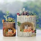 Resin Succulent Plant Flower Bonsai Planter Pot Box Basket for Home Garden Decor