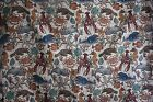 Ocean Whales Dolphins Turtle Animal Tapestry Upholstery Fabric 54 x 56