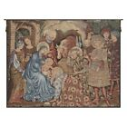 Nativity Adoration of the Magi Christian Art Italian Woven Tapestry Wall Hanging