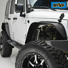 EAG Fits 07 18 Jeep Wrangler JK Front and Rear Flat Stubby Steel Fender Flares