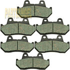 Fr+R Carbon Brake Pads For Honda GL1100 GL1100A GL1100I Gold Wing 1100 1982-1983