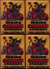 1980 Topps Weird Wheels Stickers 4 Unopened Pack