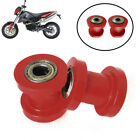 10mm Red Chain Roller Slider Tensioner Wheel Guide Pit Dirt Mini Bike Moto 2pcs