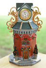 1999 Lemax Christmas Village Collection Porcelain Town Clock Tower 94404