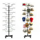 7 Tiers Hat  Cap Display Retail Hat Cap Rack Rotating Spinner Metal Stand Floor