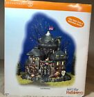 Dept 56 Halloween NEW Sealed Retired CASTLE BLACKSTONE Sounds Snow Village Lemax