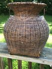 Antique Primitive Fish Trap Basket Creel Japanese or Native American Old