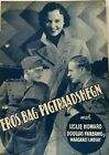 Captured Leslie Howard Douglas Fairbanks Jr 1933 Vtg Old Danish Movie Program