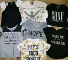 Juniors Tops Lot Large  Extra Large Grunge  Street black  graphic tees