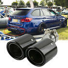 Stainless Steel Car Exhaust Dual Tail Pipe Tips Cover ID 60 63mm OD 89mm Inlet