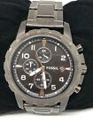 Fossil FS4721 Dean Chronograph Men Smoke Grey Stainless Steel Analog Watch Bb275