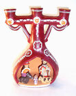 MEXICAN FOLK ART NATIVITY CANDELABRA  Handcrafted Pottery  Vintage Cancun 1997