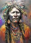 Native American Medicine Man Shaman Western Art Original Oil Painting Santa Fe
