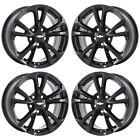 17 CHEVROLET EQUINOX GLOSS BLACK WHEELS RIMS FACTORY OEM SET 5756