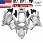 Fit for Honda CBR954RR 2002-2003 Injection Silver White Fairing Plastic w027n
