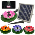 DC 7V Solar Lotus Fountain Pump Floating Garden Pond Pool LED Light Home Decor