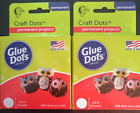 2 PACK Glue Dots Craft Roll each Contains 200 5 Inch Adhesive Craft Dots