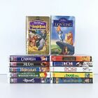 Lot of 12 Walt Disney Pictures VHS Movie Video Tapes Masterpiece Pixar Gold