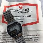 Armbanduhr Citizen Crystron LC von Aug 1978 mit Manual  40-3131 4-060041