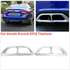 1114 x 331 Rear Cylinder Exhaust Pipe Tip End Cover For Honda Accord 2018