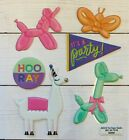 Llama Balloon Animal PUFFY Stickers Papercraft Planner Supply Party Fiesta