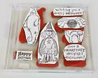 Halloween Rubber Stamps Set of 7 Cling Rubber Unmounted Ghost Witch Scrapbooking