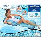 Aqua Leisure Deluxe 3 in 1 Lounge Chair Swimming Pool Float Inflatable Water Mat