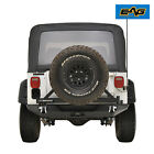 EAG Steel Rear Bumper W Secure Lock Tire Carrier Fit 87 06 Jeep Wrangler TJ YJ