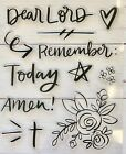 Dear Lord Faith Amen Clear Rubber Stamps Scrapbook Religious Bible Journal