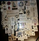 Huge Rubber Stamp Lot 80 mostly New Rare and Retired