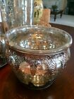 Discontinued Pottery Barn Madeline Mercury Glass and Metal Vase
