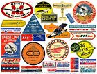 AIRLINE LUGGAGE STICKERS 1 Sheet 25 Travel Label REPRODUCTIONS Airplane Art