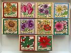 Vintage Rare Hero Arts Museum Flowers Rubber Stamp Set of 10 NEW Lot of 10