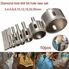 10Pcs set Diamond Tool Drill Bit Hole Saw Cutter For Tile Marble Glass 3 50mm
