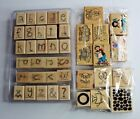 Lot of Rubber Stamps Wood Mounted Scrapbooking and Crafts ABC School