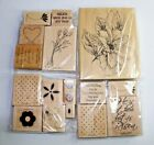 Lot of Rubber Stamps Wood Mounted Scrapbooking and Crafts Floral Easter