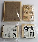 Lot of Rubber Stamps Wood Mounted Scrapbooking and Mixed