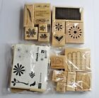 Lot of Rubber Stamps Wood Mounted Scrapbooking and Crafts Mixed Floral