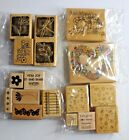 Lot of Rubber Stamps Wood Mounted Scrapbooking and Crafts Easter Baby